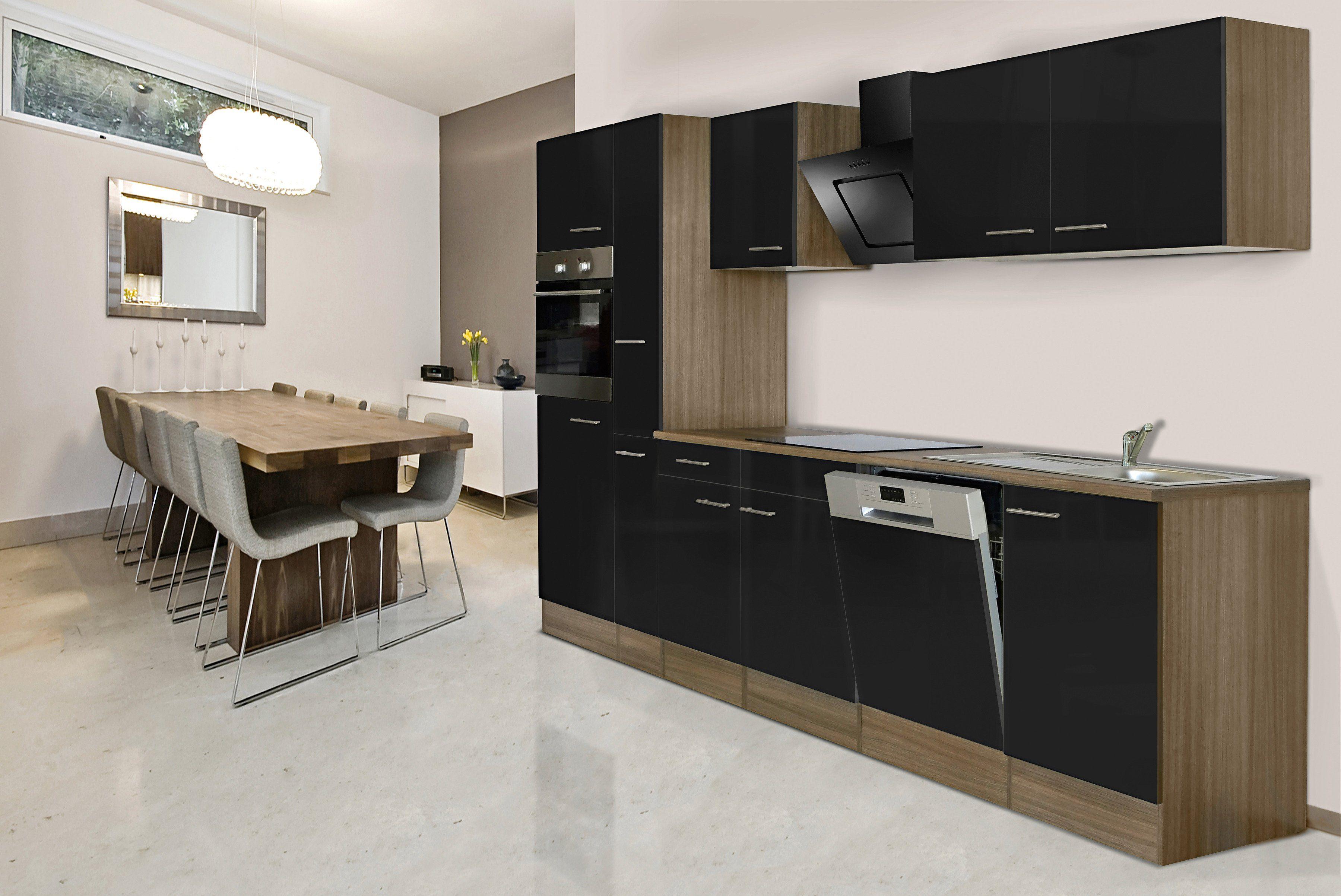 Respekta Küchenzeile mit E-Geräten »York«, Breite 310 cm