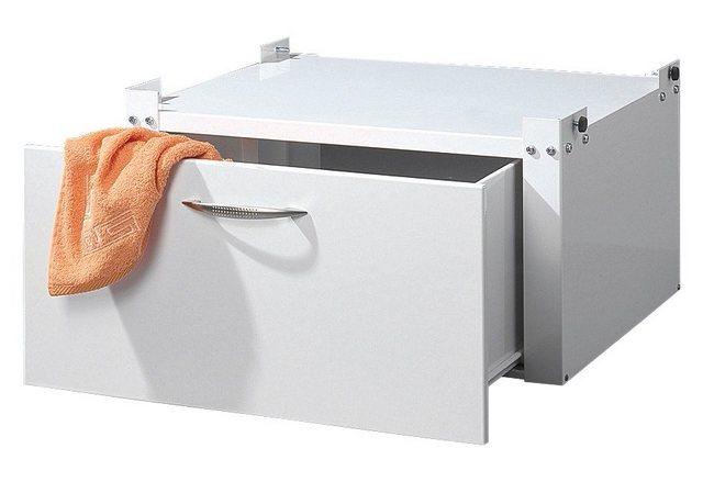 Sz Metall Waschmaschinen-Untergestell, mit Schublade | Bad > Waschmaschinen und Trockner > Einbauwaschmaschinen | Weiß | SZ Metall
