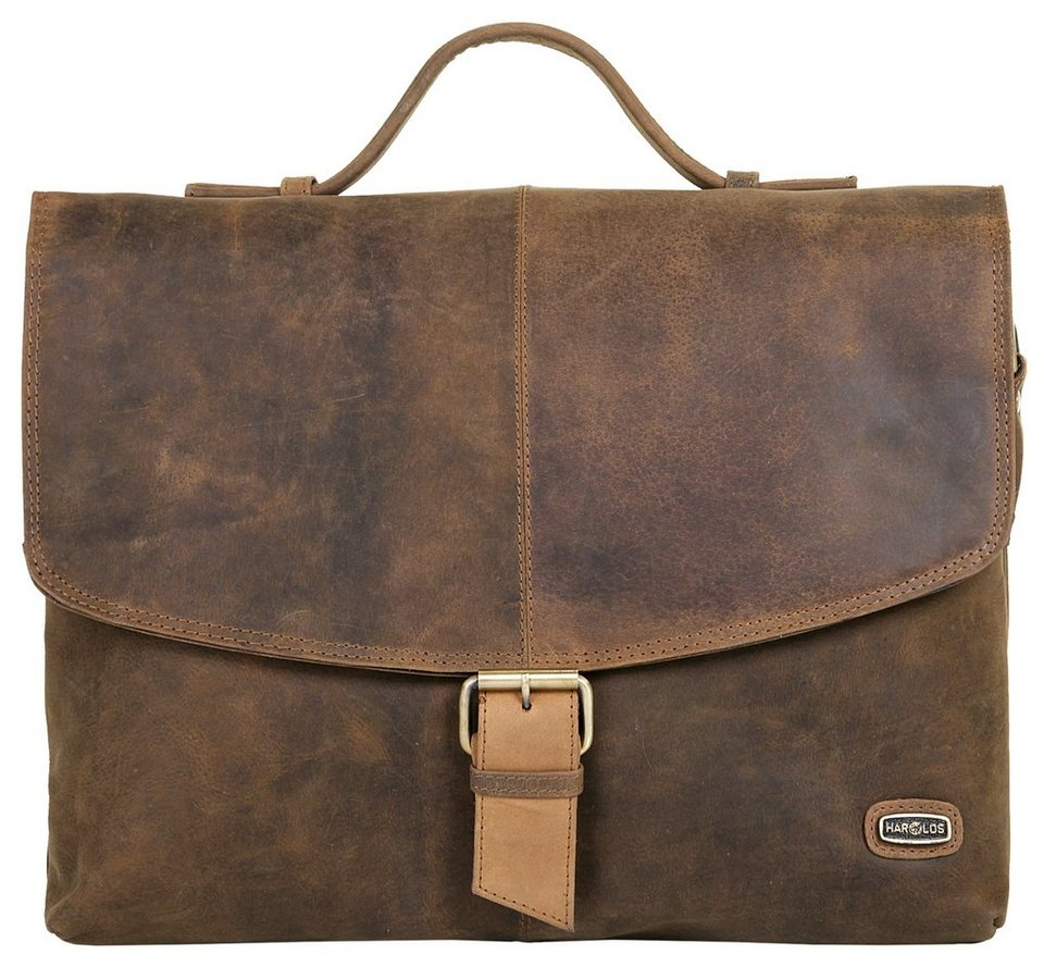 Harold's Leder Messengerbag »Antik« in braun