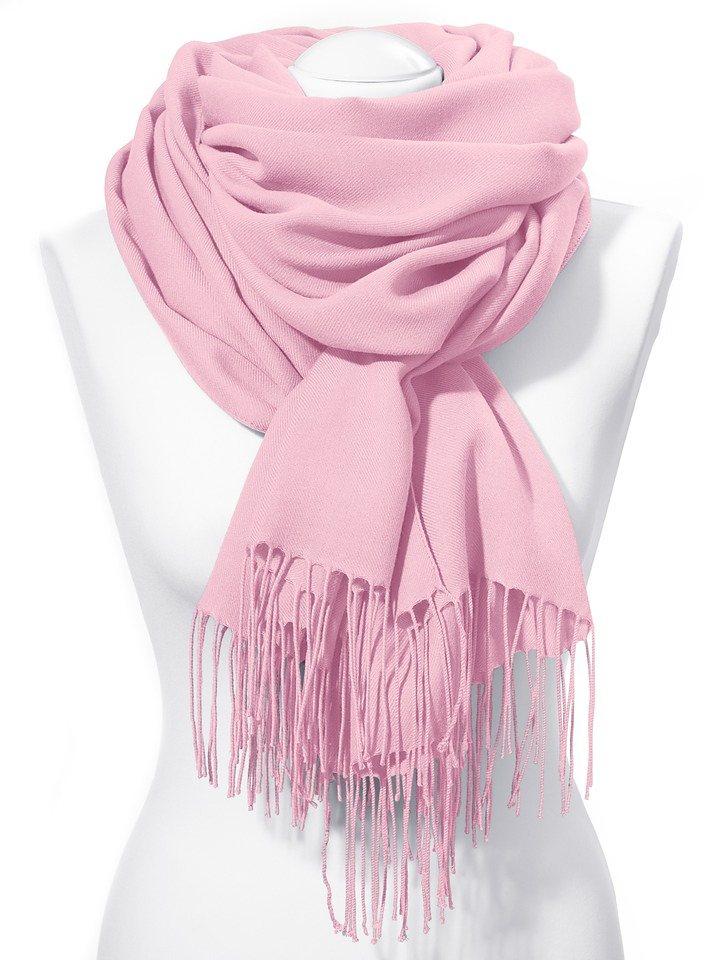 Schal in rosé