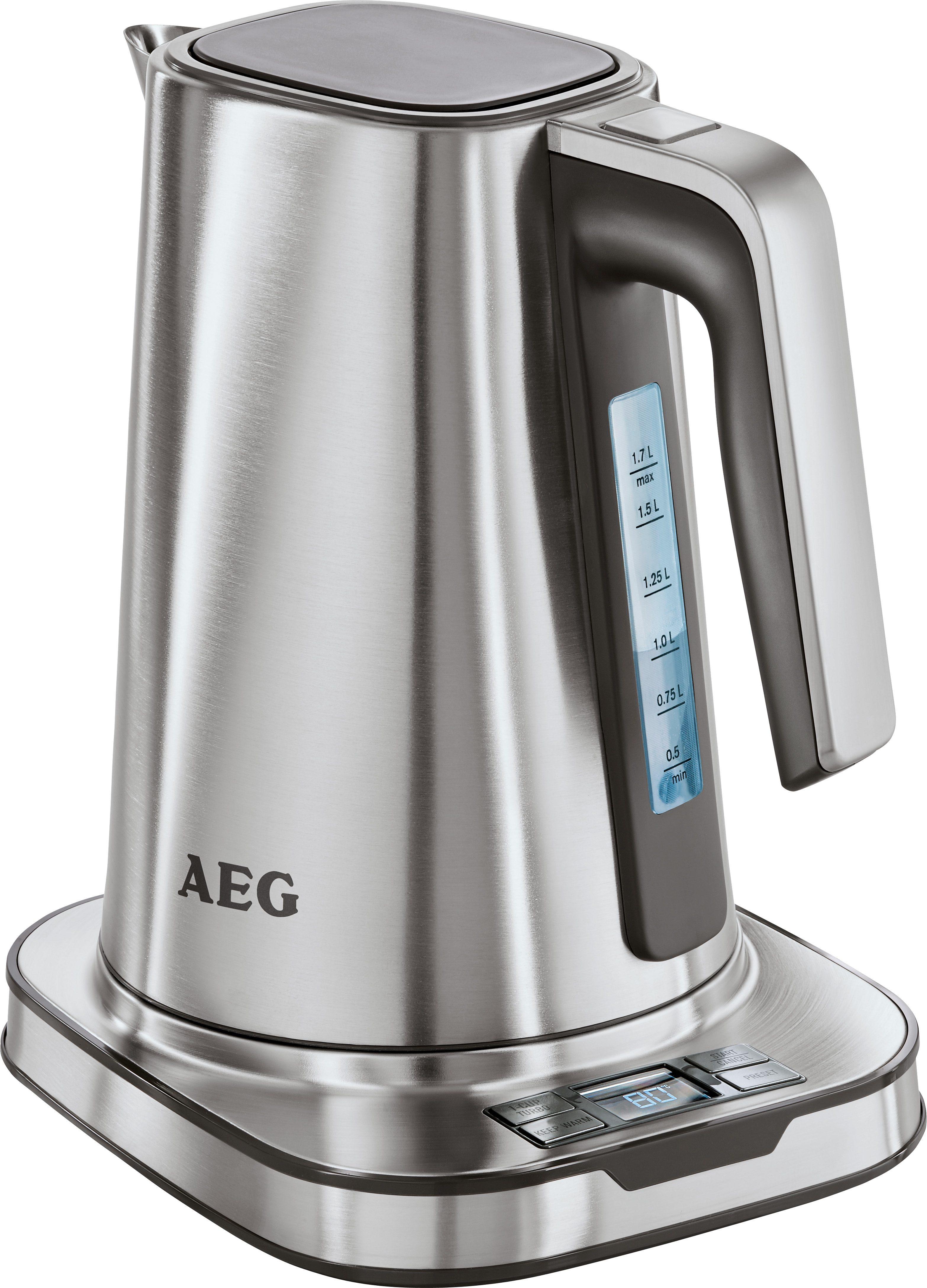 AEG Wasserkocher Expresswasserkocher PremiumLine 7Series EWA 7800, 1,7 Liter, 2400 Watt