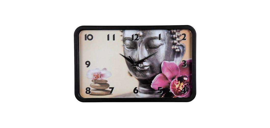 Hama Wanduhr Buddha Blume, geräuscharm