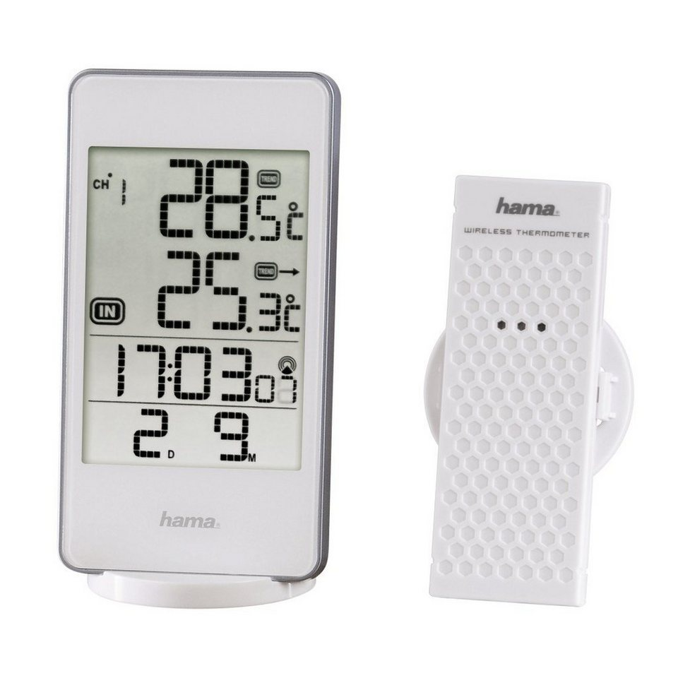 Hama Wetterstation EWS-840, Weiß in Weiß