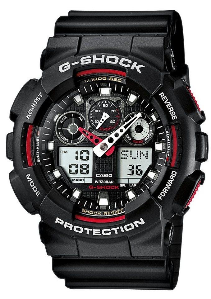 CASIO G-SHOCK Chronograph, »GA-100-1A4ER« in schwarz