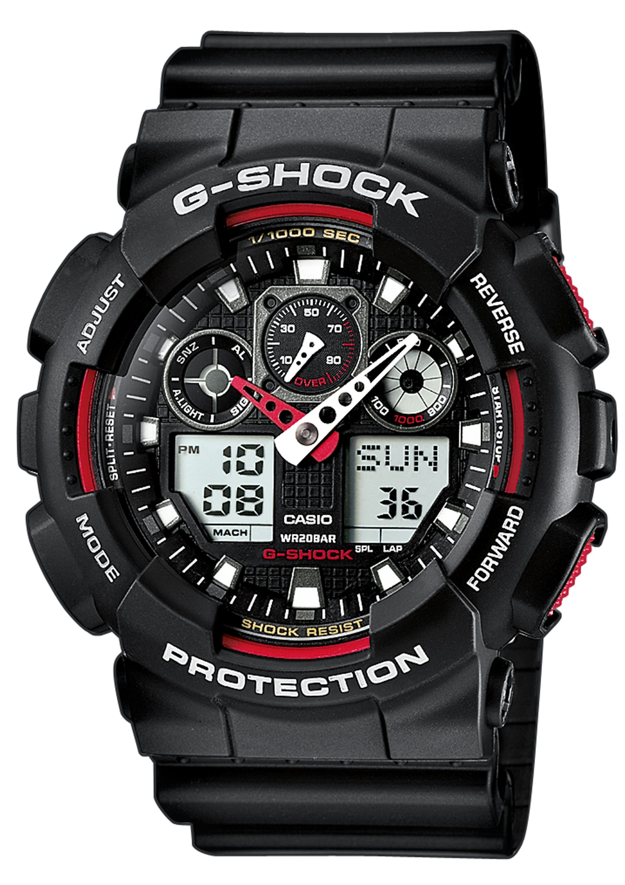 CASIO G-SHOCK Chronograph, »GA-100-1A4ER«