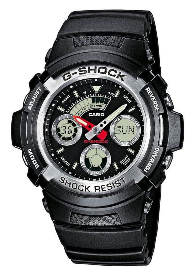 CASIO G-SHOCK Chronograph, »AW-590-1AER« in schwarz