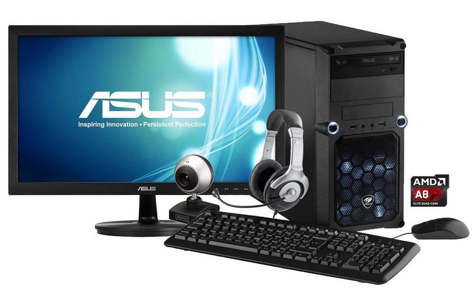 hyrican gaming pc set amd a8 7650k 8gb r7 240 windows 8. Black Bedroom Furniture Sets. Home Design Ideas