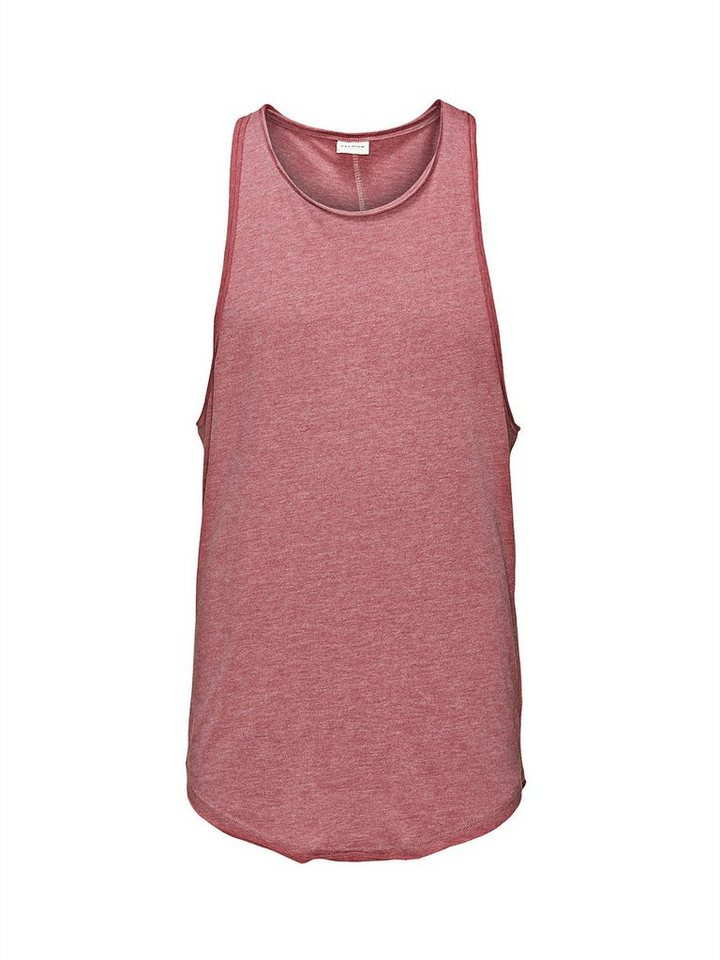 Jack & Jones Einfarbig, Oversize Tank-Top in Crushed Berry