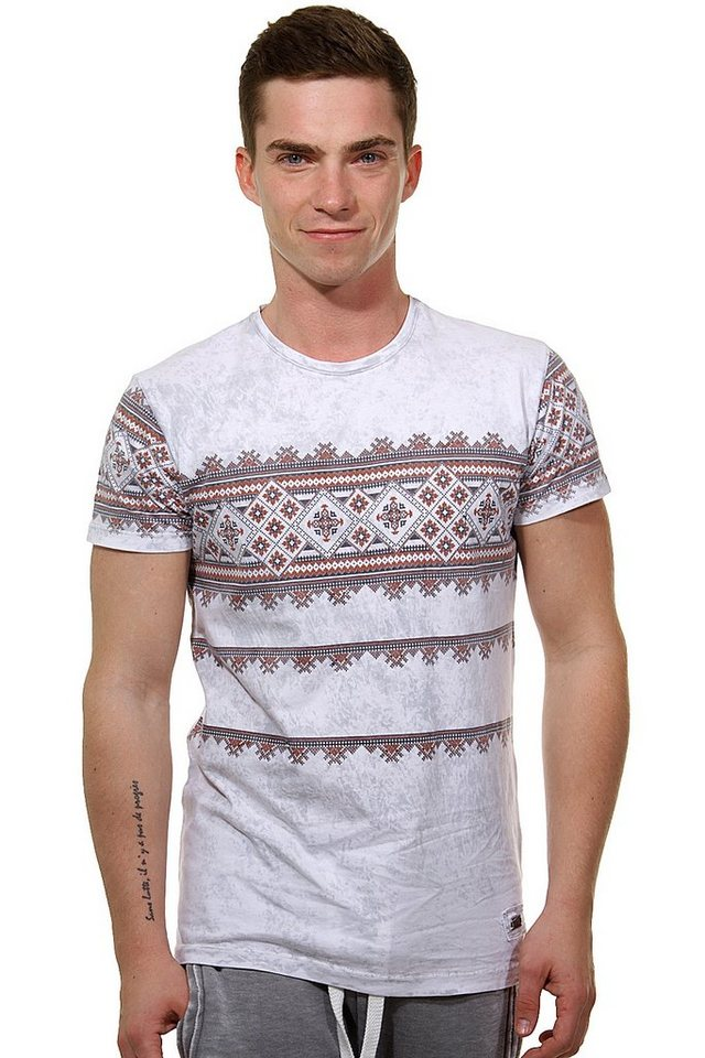 R-NEAL T-Shirt Rundhals slim fit in grau