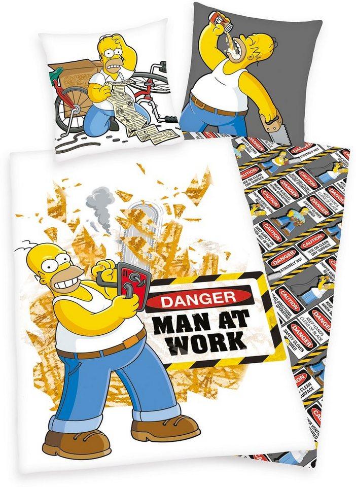Bettwäsche, The Simpsons, »Man at work«, Homer Simpsons in multi