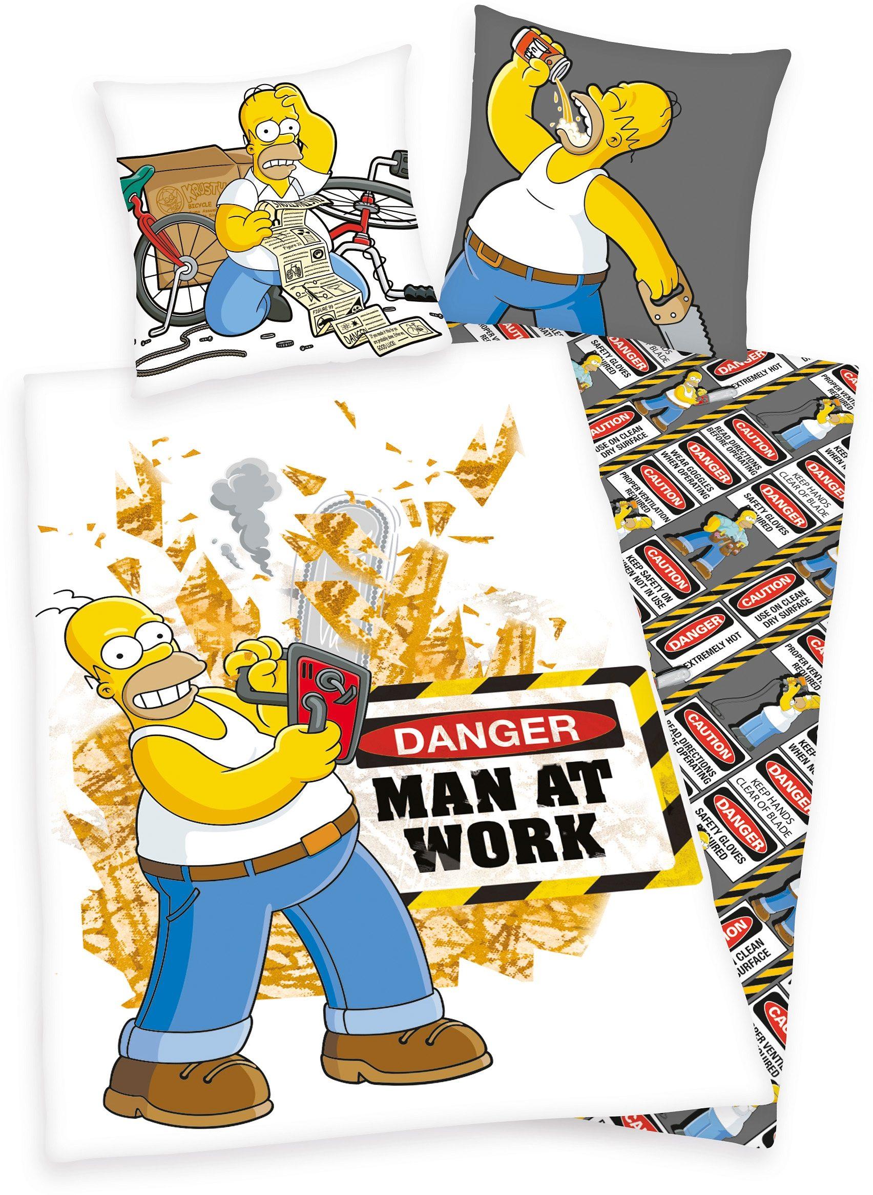 Bettwäsche, The Simpsons, »Man at work«, Homer Simpsons