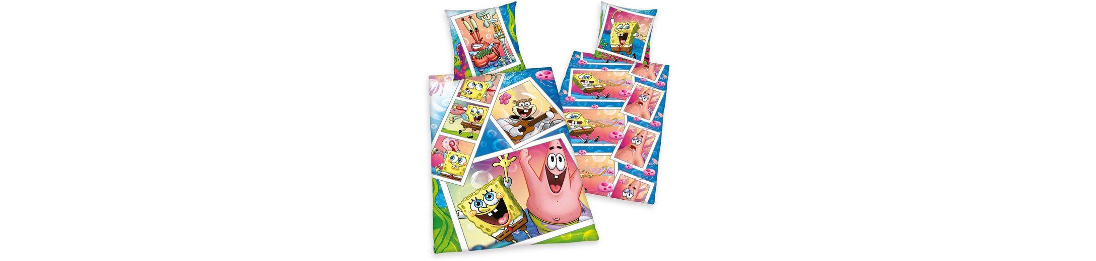 Bettwäsche, Spongebob, mit Spongebob und Patrick