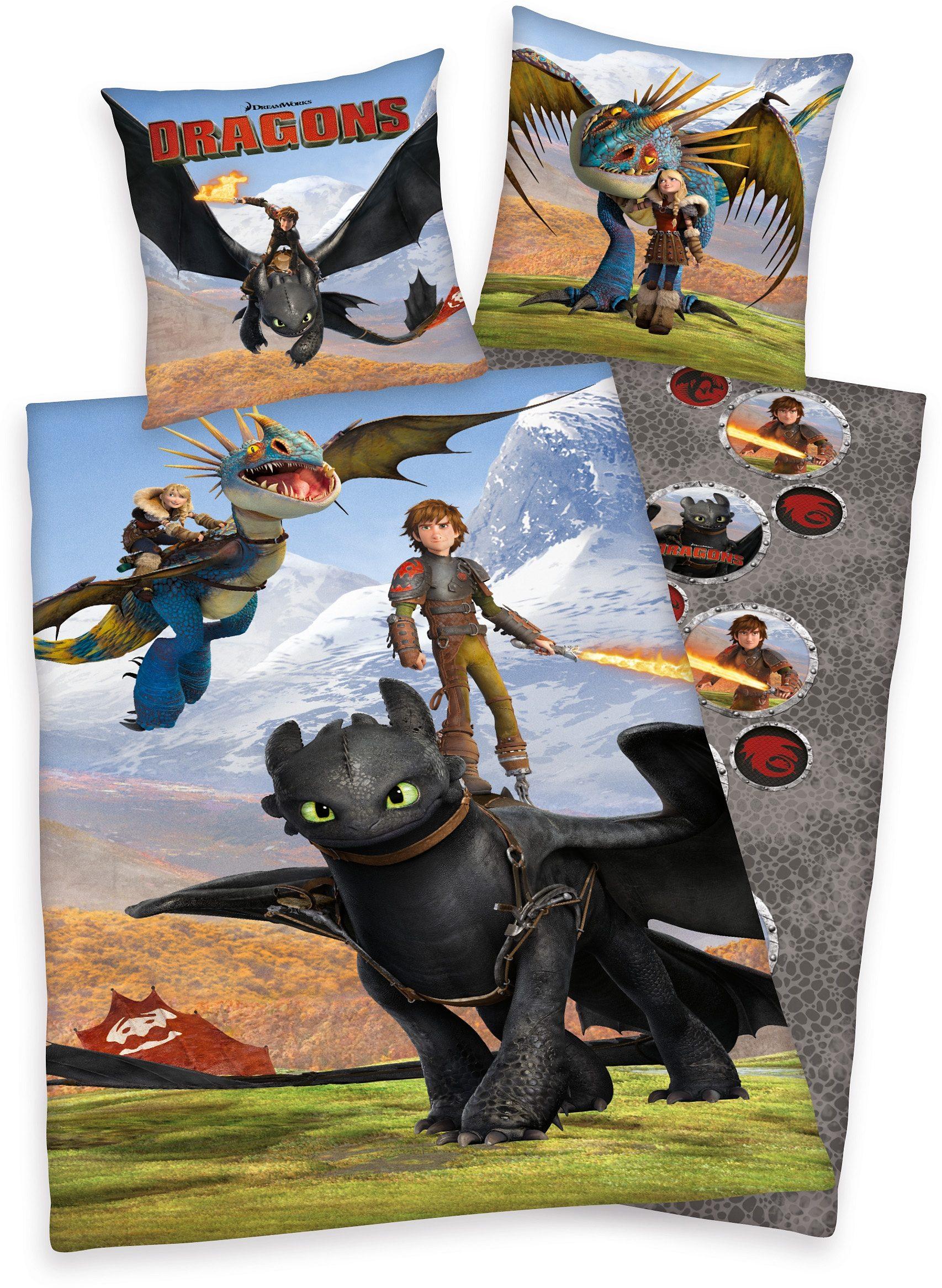 Kinderbettwäsche »Dragons Portrait«, mit Wendeseite