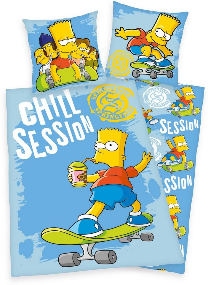 Bettwäsche, The Simpsons, »Chill Session«, Bart Simpsons in blau