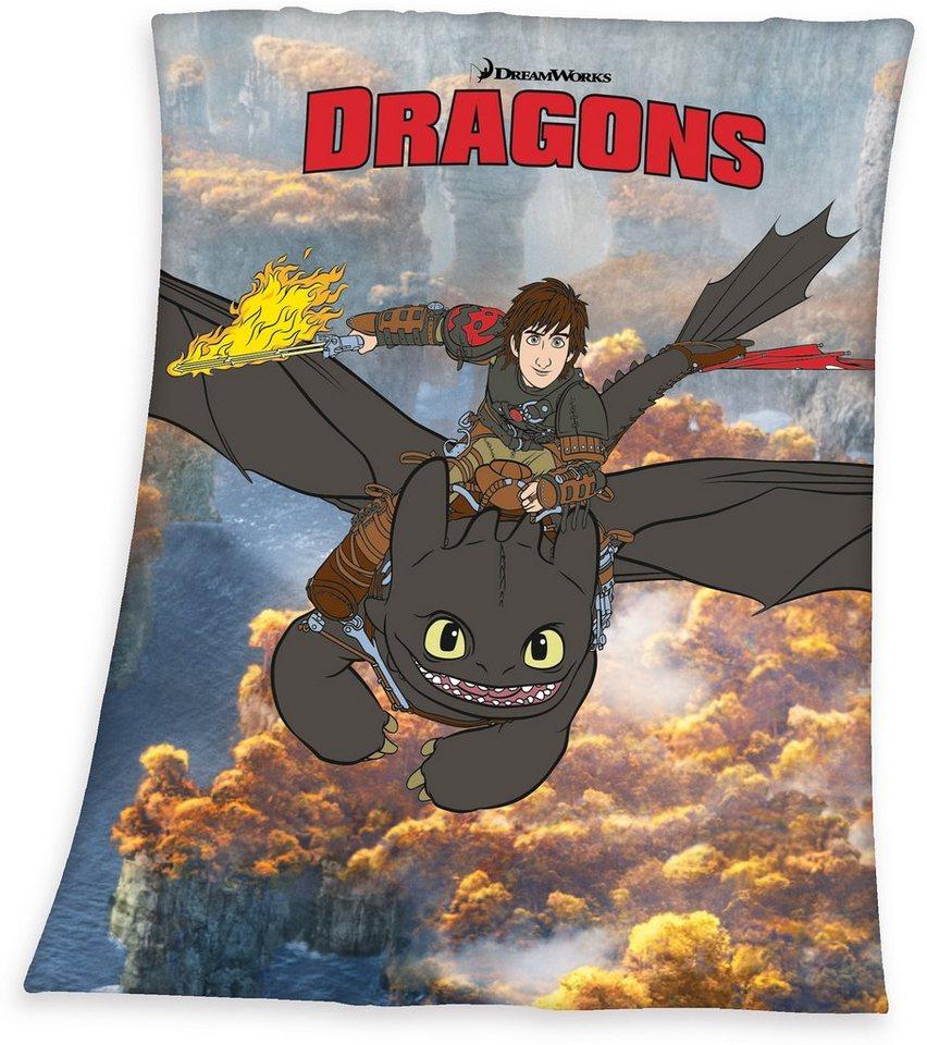 Kinderdecke, Dream Works, »Dragons«, großflächiges Motiv in grau
