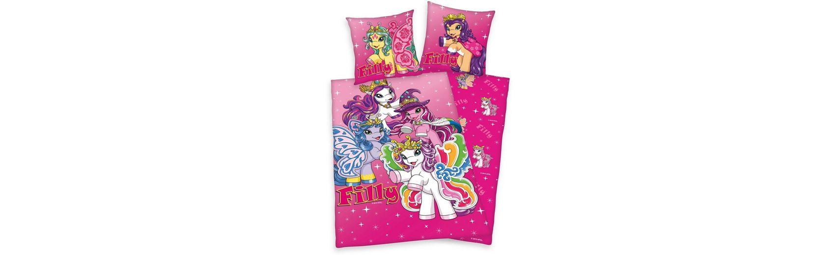 Kinderbettwäsche, Filly Princess, farbenfrohes Design