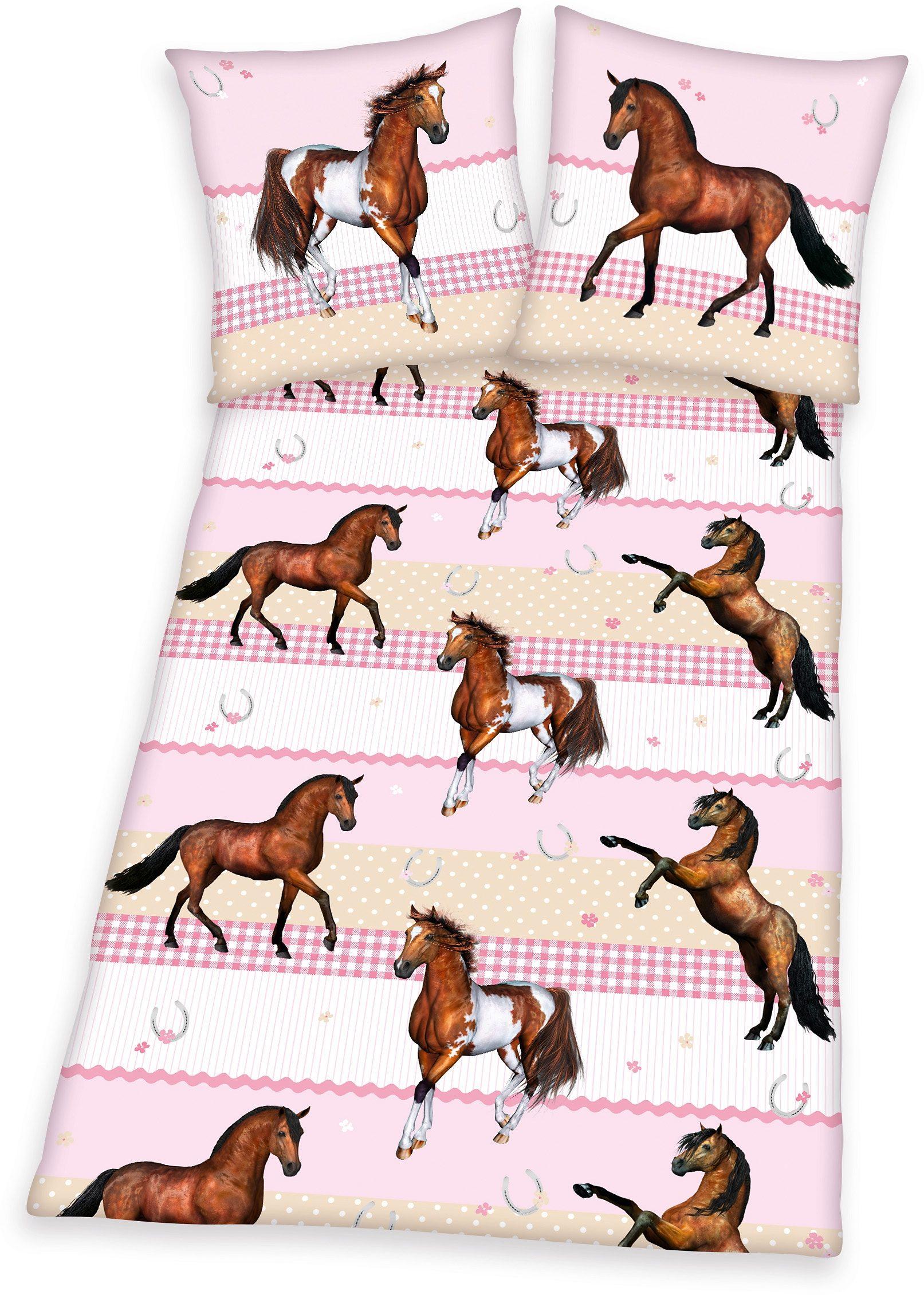Bettwäsche, Young Collection, »Pferde«, für Pferdefreunde