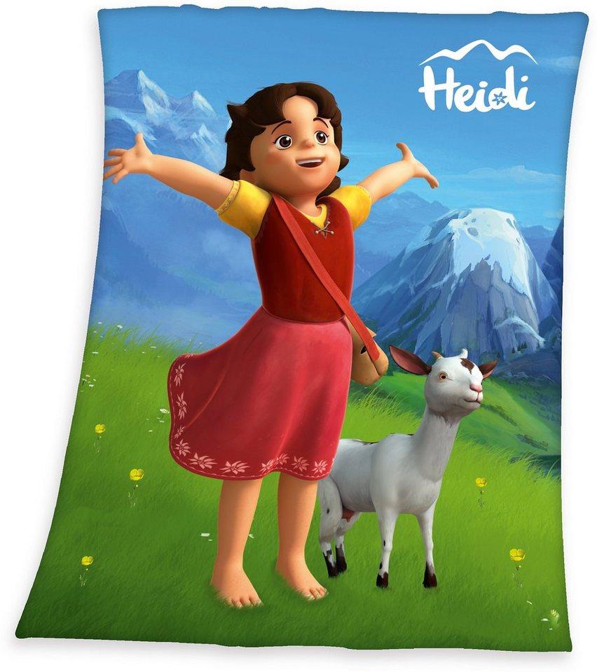 Kinderdecke, Heidi, mit großem Motiv in multi