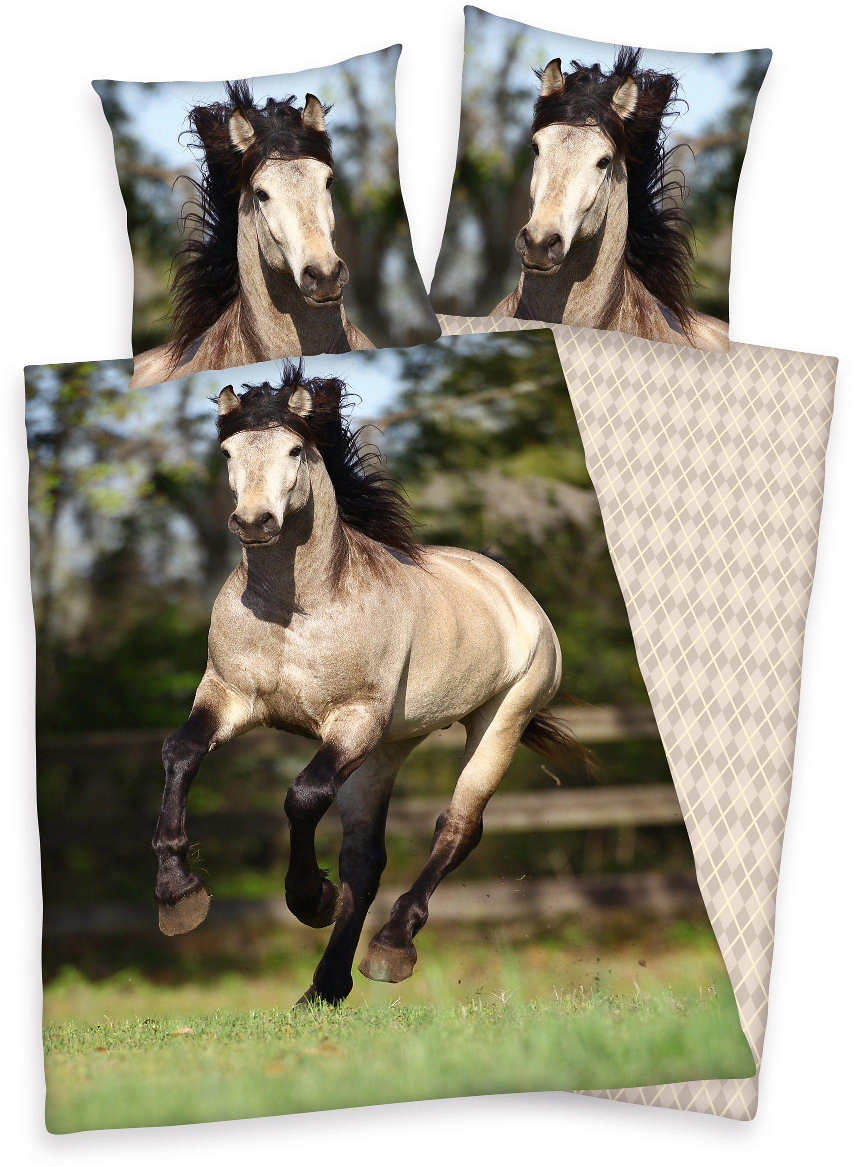 Bettwäsche, Young Collection, »Pferd«, galoppierendes Pferd