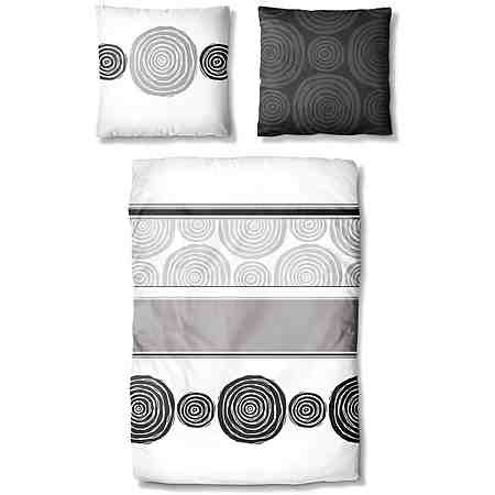 Bettwäsche, Ecorepublic Home, »Paso Doble«, mit Kreisen