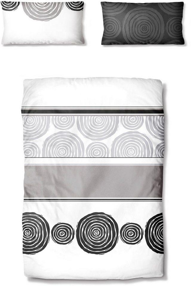 Bettwäsche, Ecorepublic Home, »Paso Doble«, mit Kreisen in weiß-graphit