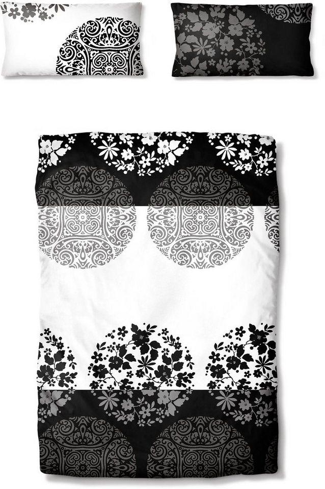 Bettwäsche, Ecorepublic Home, »Sanetra«, fein gemustert in schwarz-weiß