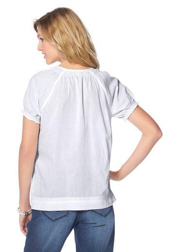 Cheer Shirtbluse, mit Puffärmelchen