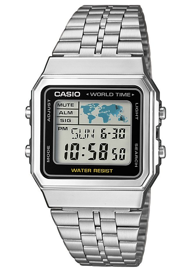Casio Collection Chronograph »A500WEA-1EF« in silberfarben