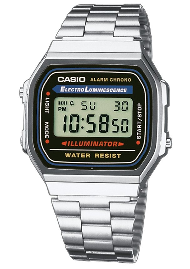 Casio Collection Chronograph »A168WA-1YES« in silberfarben