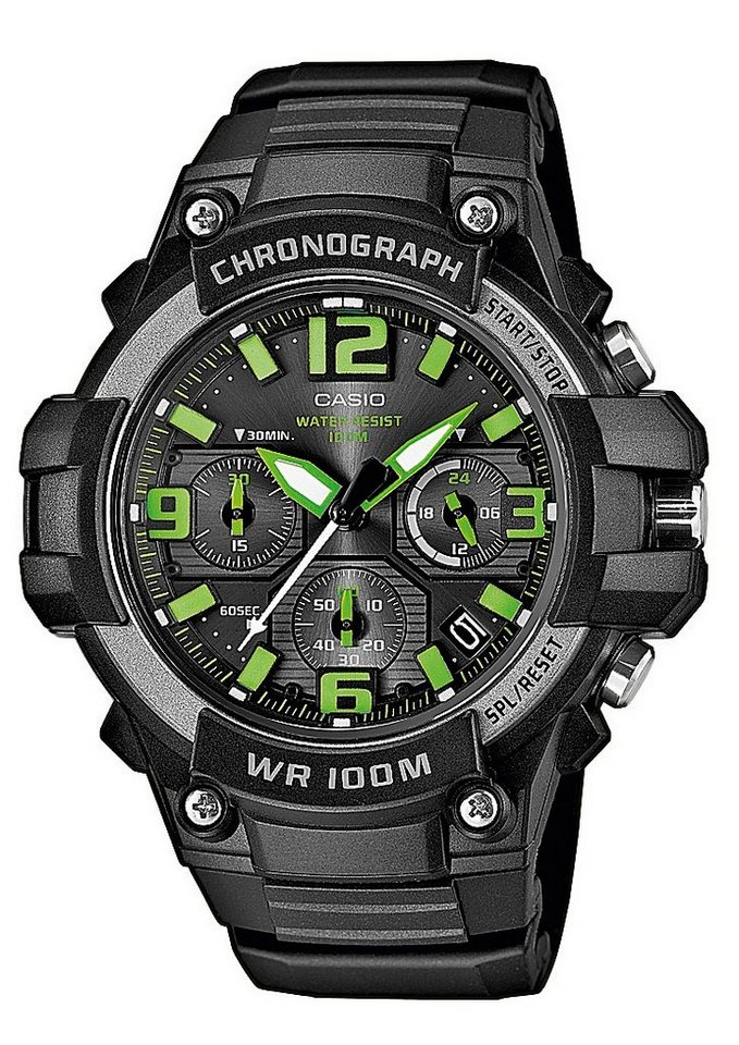 Casio Collection Chronograph »MCW-100H-3AVEF« in schwarz