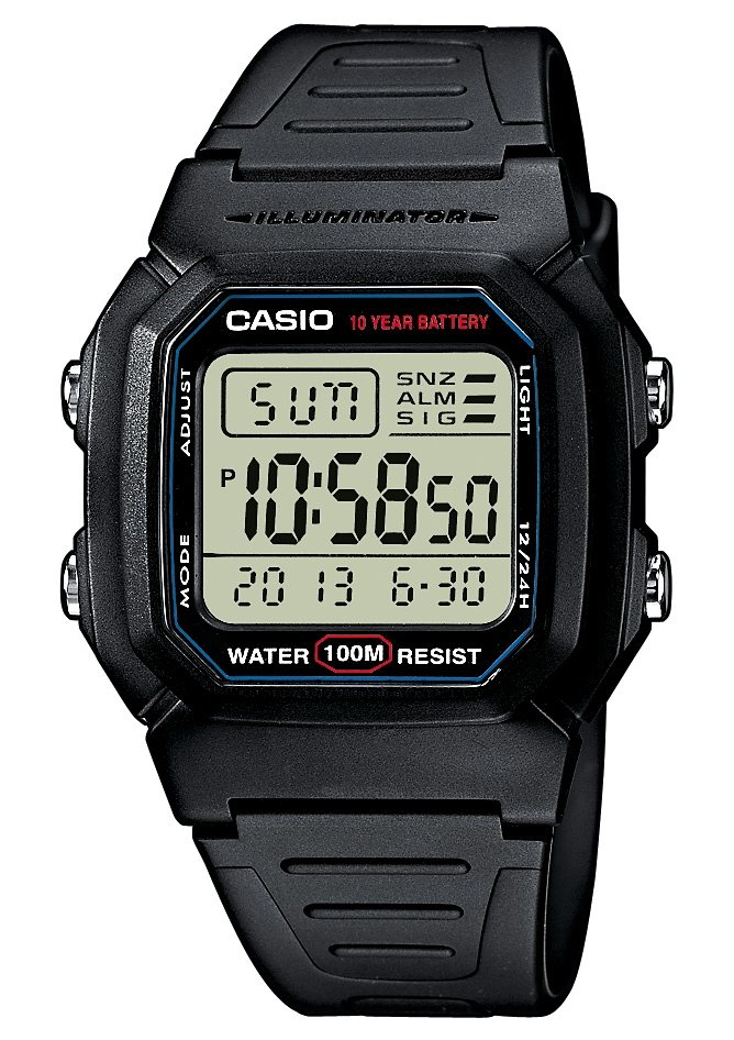 "Casio Collection, Chronograph, ""W-800H-1AVES"" in schwarz"