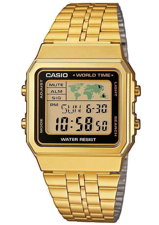 Casio Collection Chronograph »A500WEGA-1EF« in goldfarben