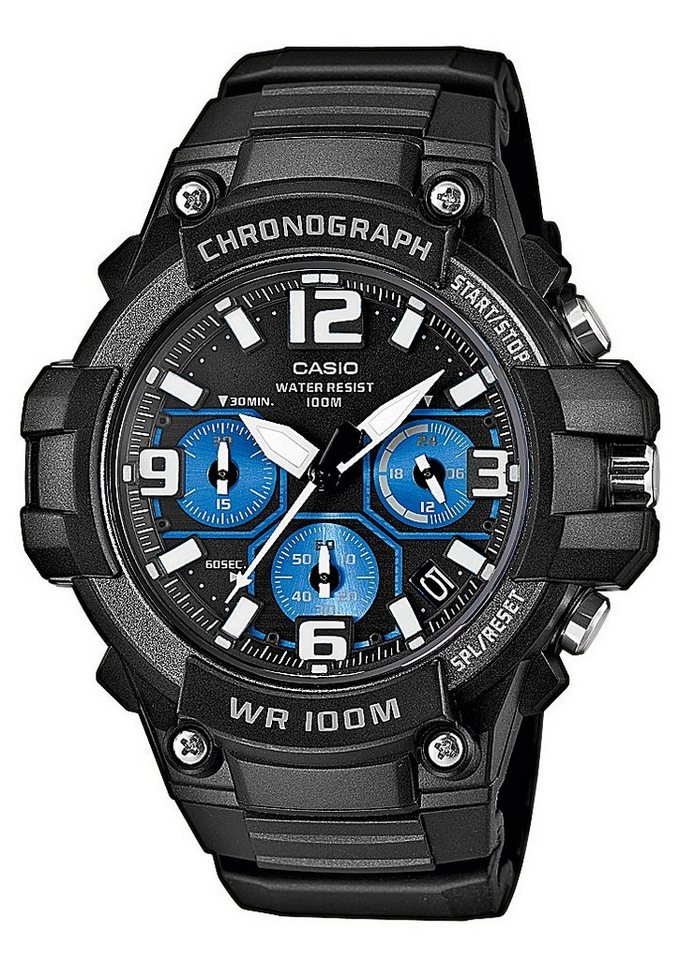"Casio Collection, Chronograph, ""MCW-100H-1A2VEF"" in schwarz"