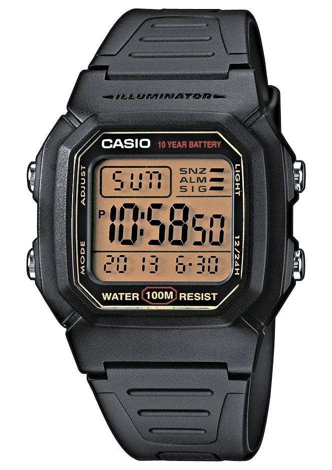 Casio Collection Chronograph »W-800HG-9AVES« in schwarz