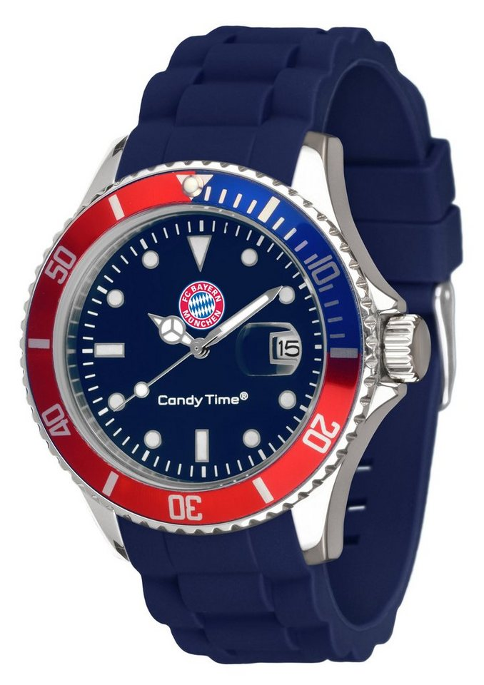 "FC Bayern, Armbanduhr, ""Candy Time, G3496B/4"" in blau"