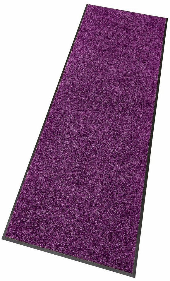 Läufer, Hanse Home, »Erding«, uni, In- und Outdoor geeignet, rutschhemmend beschichtet in purple