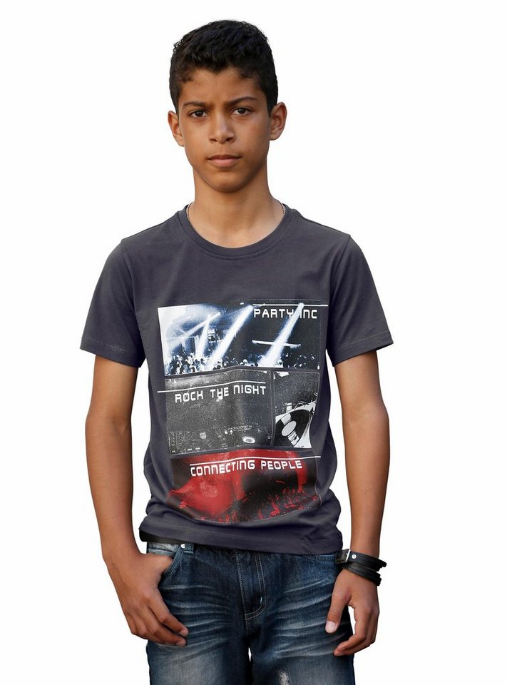 H.I.S T-Shirt mit Fotodruck in anthrazit