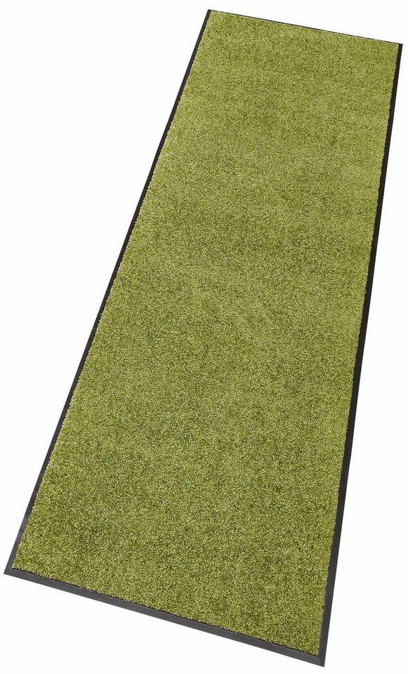 Läufer, Hanse Home, »Erding«, uni, In- und Outdoor geeignet, rutschhemmend beschichtet in hellgrün