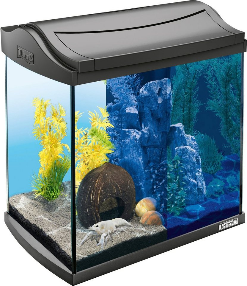 Tetra Aquarium »AquaArt LED Discovery Line« 30 l, anthrazit in anthrazit