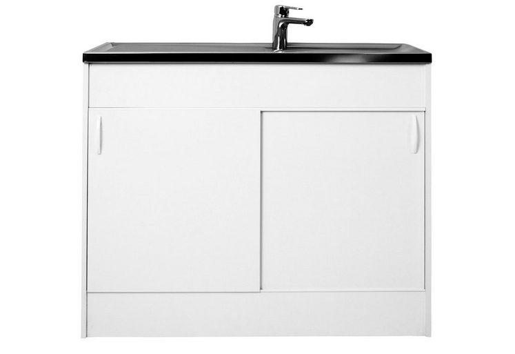 sp lenschrank mit 2 schiebet ren b t h 100 50 85 cm online kaufen otto. Black Bedroom Furniture Sets. Home Design Ideas