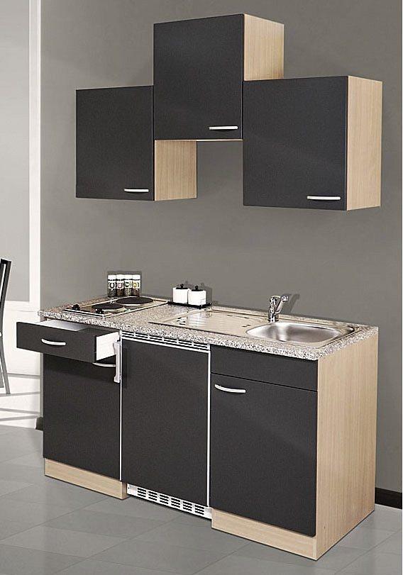 RESPEKTA Küchenzeile mit E-Geräten »Single Küche«, Gesamtbreite 150 ...