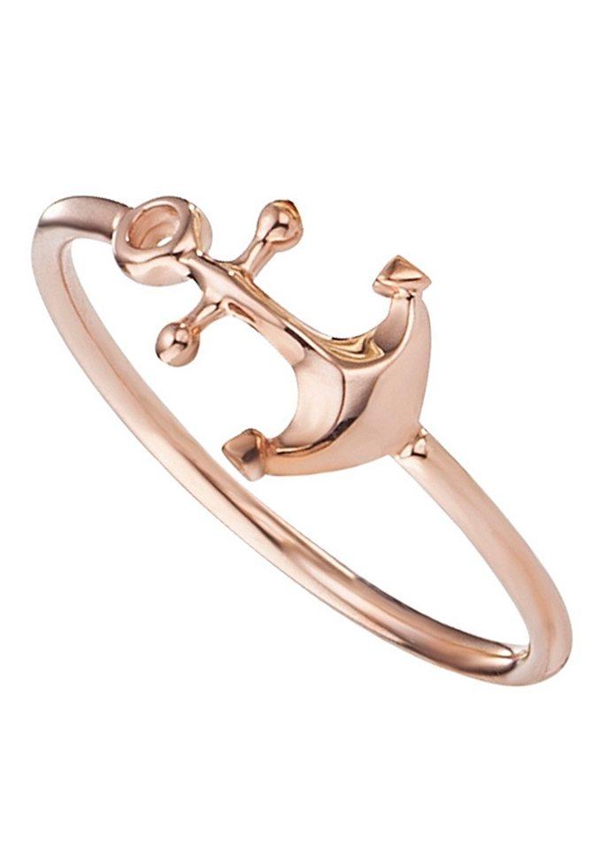 caï love Ring, »Anker, C7068R/90/00« in Silber 925/roségoldfarben