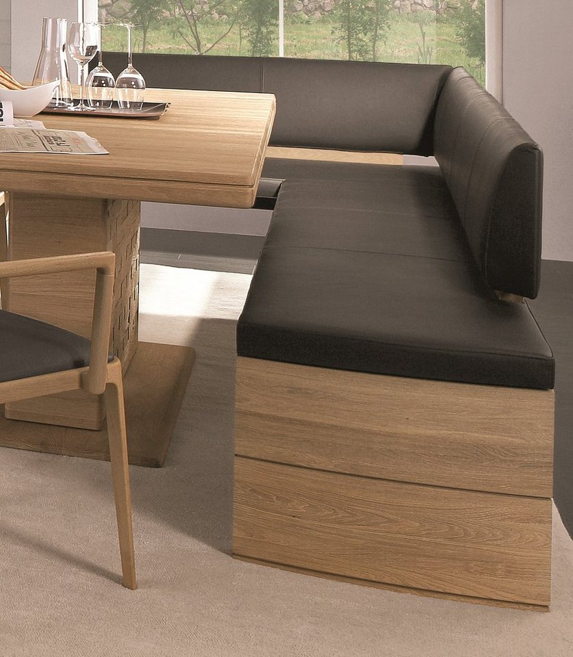 eckbank dunkelbraun stunning cavadore eckbank links mulan moderne sitzbank mit lehne in. Black Bedroom Furniture Sets. Home Design Ideas