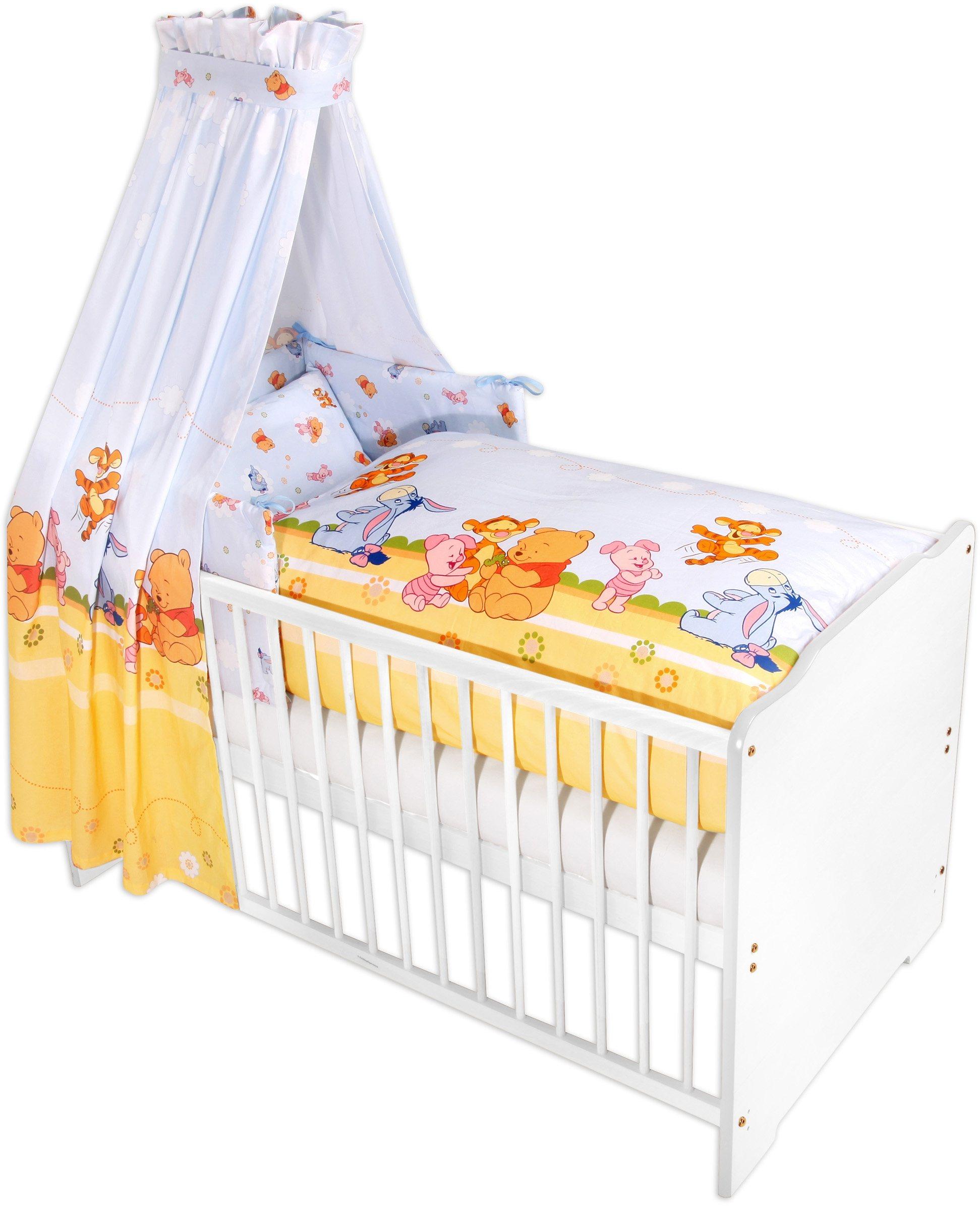Disney Baby 7-tlg. Komplettbett, Babybett+ Matratze+ Himmelstange+ Himmel+ Nestchen+ Bettwäsche   Kinderzimmer > Babymöbel > Babybetten & Babywiegen   Baumwolle   Disney Baby