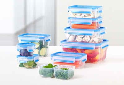 Emsa Frischhaltedose »Clip & Close«, Kunststoff, (Set, 9-tlg), 515481, spülmaschinenfest, hygienisch, 100 % dicht, auslaufsicher, unbedenklich, gefriergeeignet, Blau