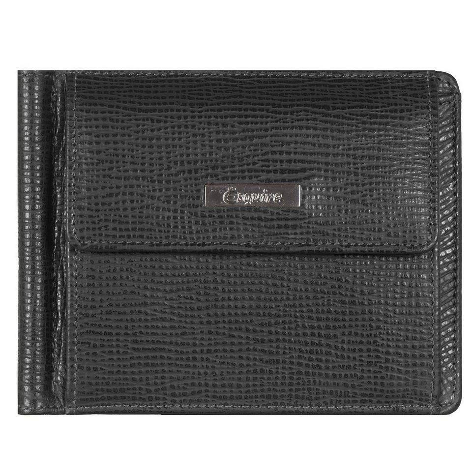 Esquire Boston Geldbörse Leder 11,5 cm in schwarz