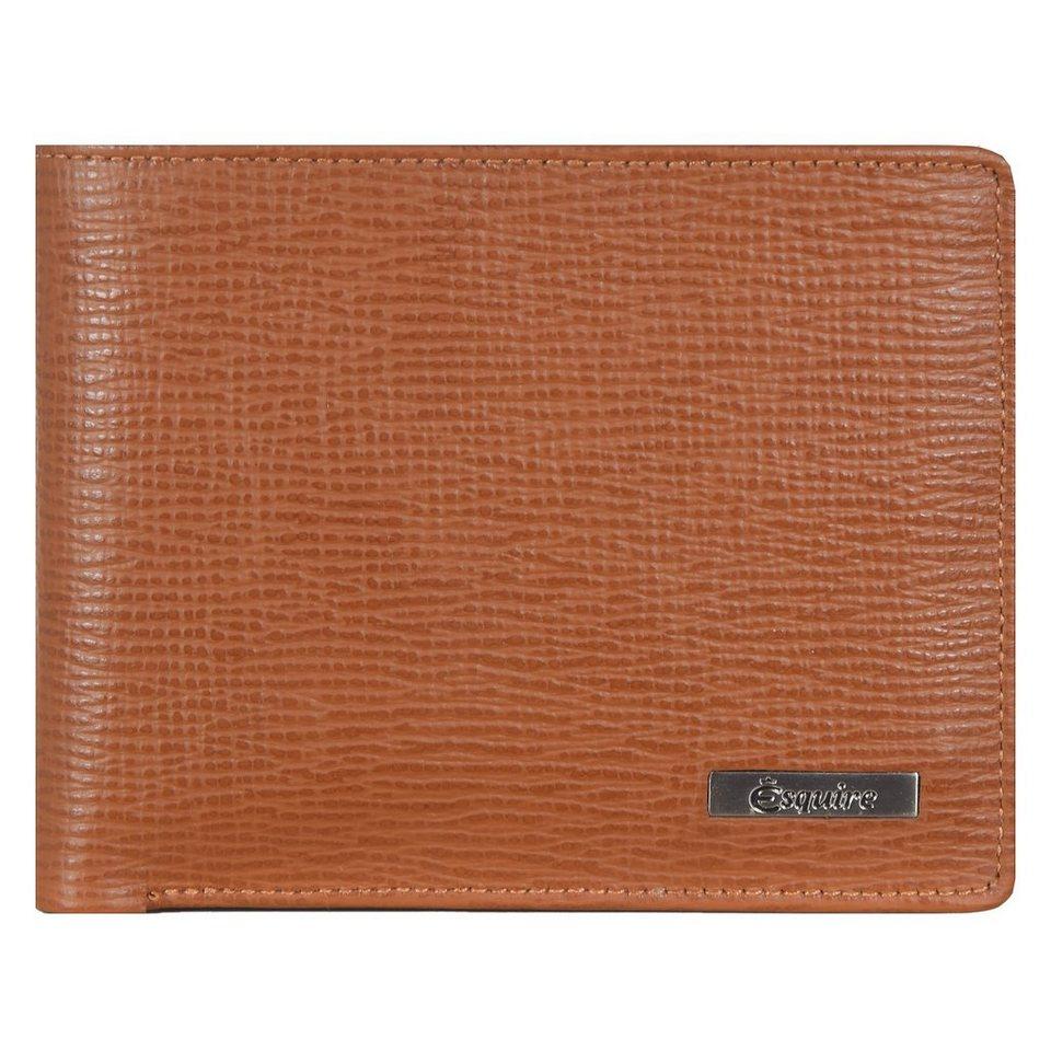 Esquire Boston Geldbörse Leder 11,5 cm in cognac
