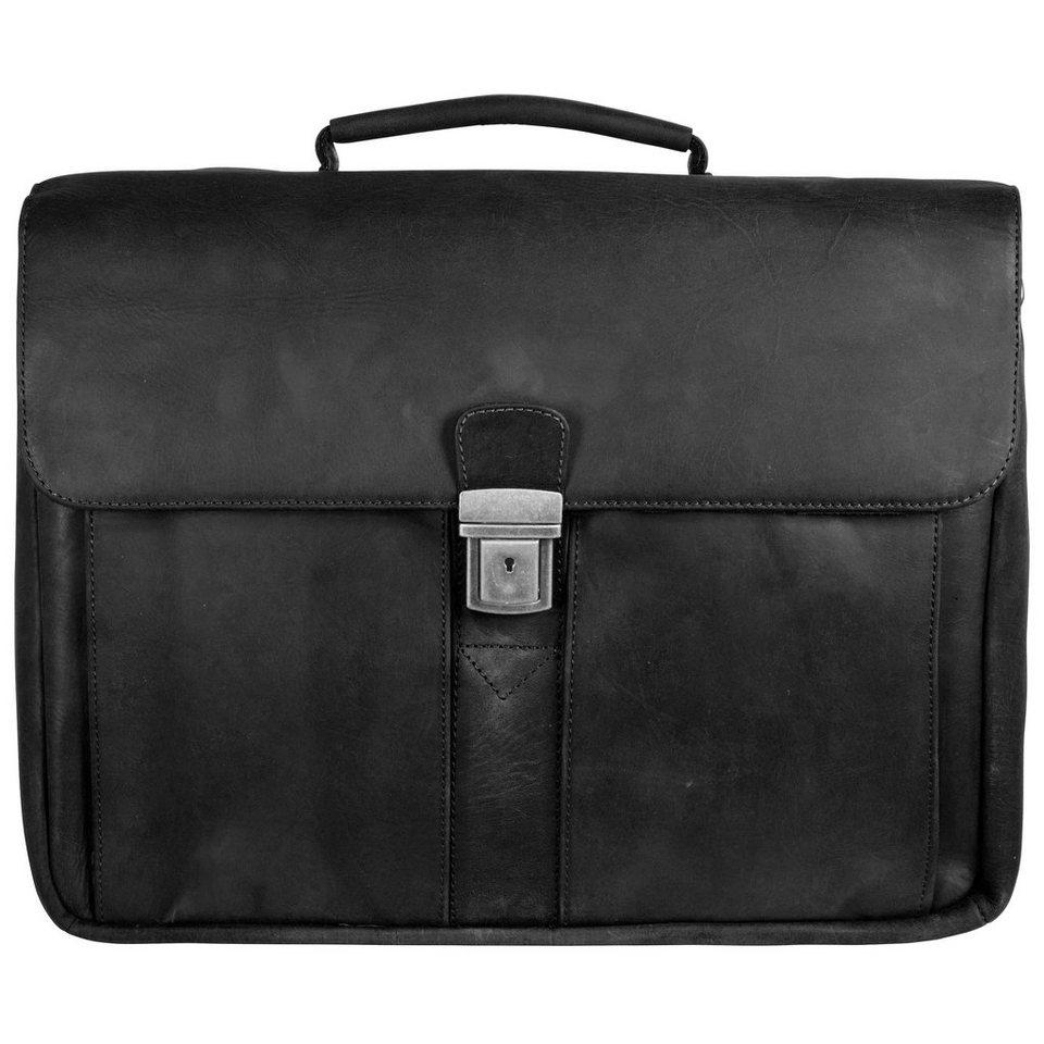 Franky Elba Aktentasche 42 cm Laptopfach in schwarz