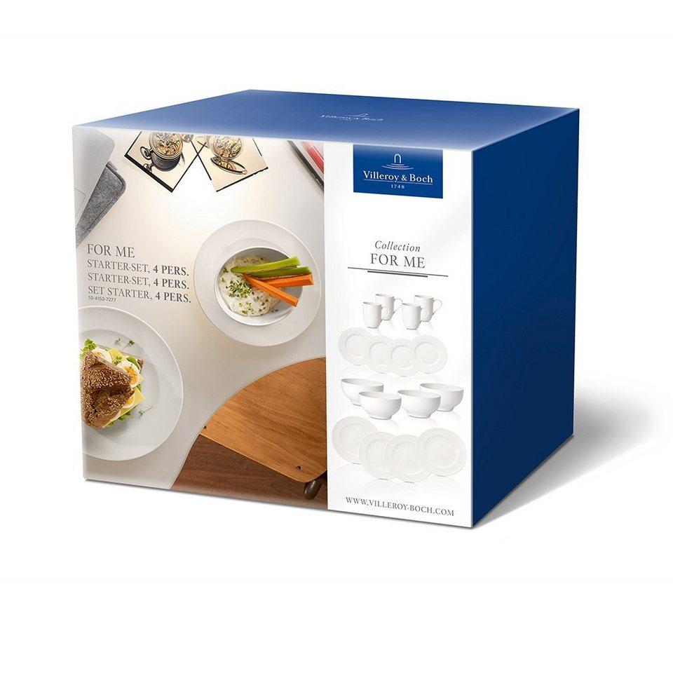 VILLEROY & BOCH Starter-Set 4 Pers. »For Me« in Weiss