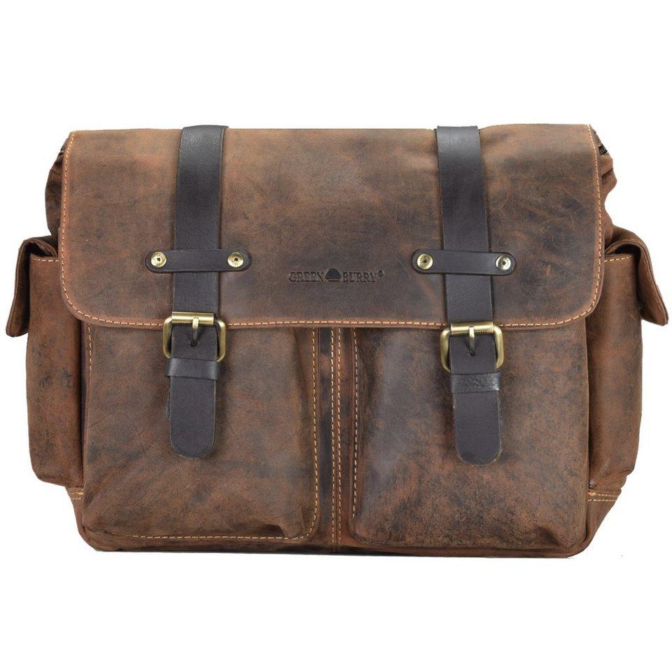 Greenburry Vintage Messenger Leder 38 cm in brown